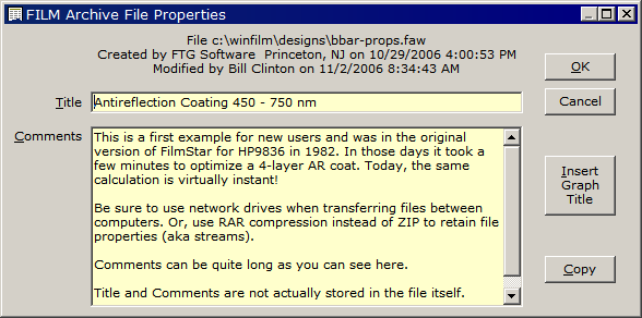 File properties (NTFS)